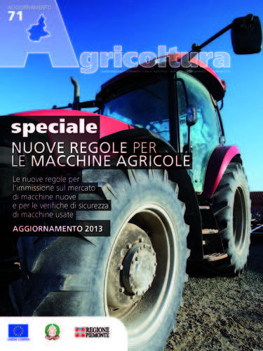SPECIALE AGRICOLTURA 'NUOVE REGOLE PER LE MACCHINE AGRICOLE'