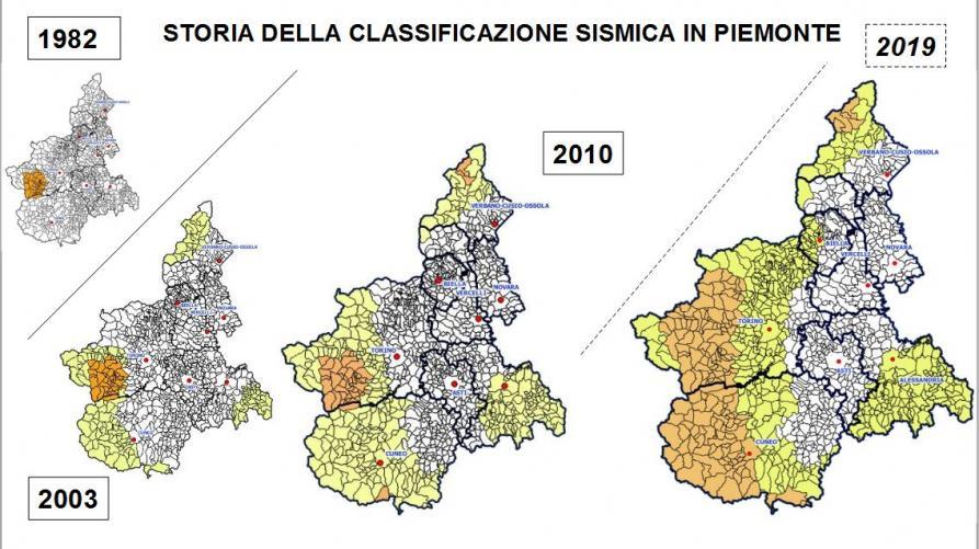Cartina Italia Rischio Sismico.Classificazione Sismica Regione Piemonte