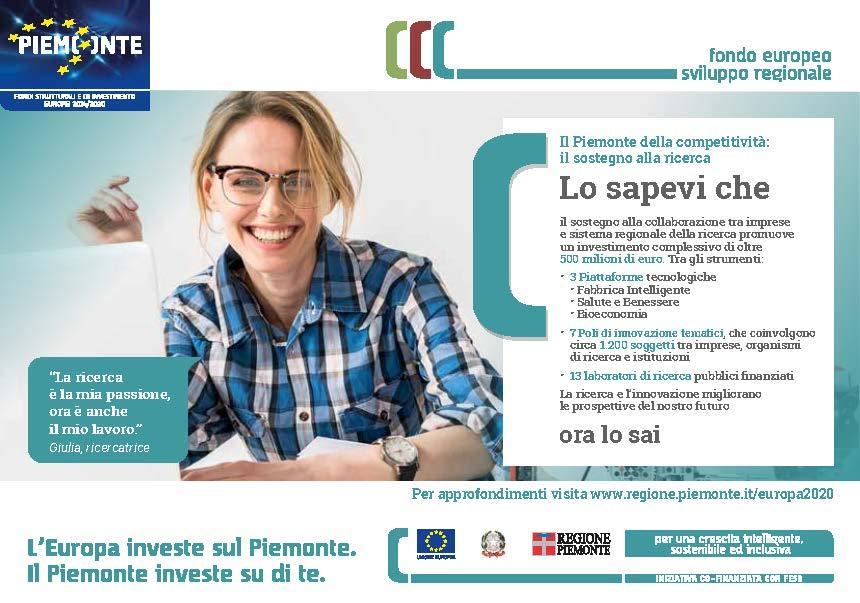 Lo Sapevi Che Campagna Promozionale Fondi Europei Regione Piemonte